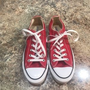 Women Red Converse Low Top